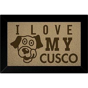 Tapete Capacho I Love My Cusco Bege
