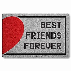 Tapete Capacho Best Friends Forever Coração Esquerdo