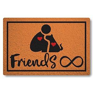 Capacho Linha Tapets Amizade Cao e Humano