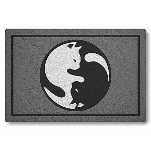 Capacho Linha Tapets Yin e Yang - Bem e Mal Gato