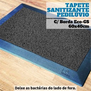 Tapete Pedilúvio Sanitizante Com Bordas Eco-GS 60x40cm