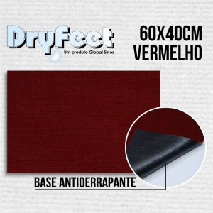 Tapete DryFeet Vermelho 60x40cm