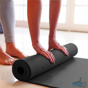 Tapete Colchonete de Ginástica Exercícios Yoga MatFit Cinza