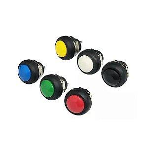 Botão Push Button 12mm a prova d'agua