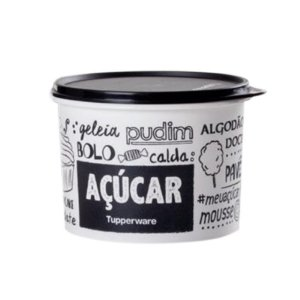 Tupperware Caixa Açúcar PB Fun 1,4 kg Preto e Branco