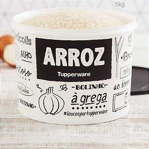 Tupperware Caixa Arroz PB Fun 5kg Preto e Branco