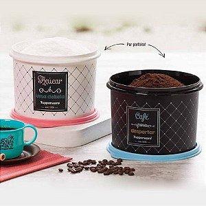 Tupperware Pote Bistrô Açúcar 1,4kg + Café 700g