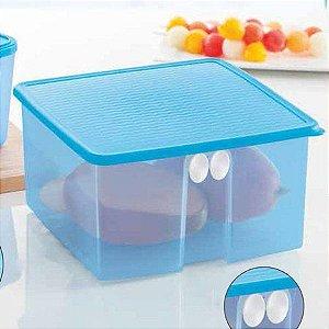 Tupperware Fresh Smart Quadrado 4,2 litros Azul