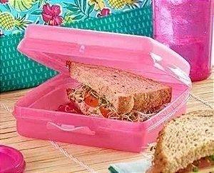 Tupperware Porta Sanduíche Rosa Bebê