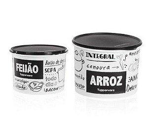 Tupperware Arroz e Feijão Pb Fun kit 2 peças