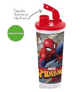 Tupperware Copo 470 ml Com Bico Homem Aranha