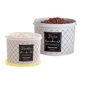 Tupperware Conjunto com 2 potes Feijão 2,0 Kg e Farinha 1,8 Kg