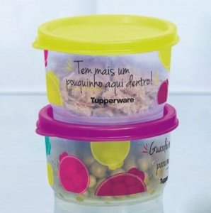 Tupperware Kit 2 Potinhos Sobra 140ml