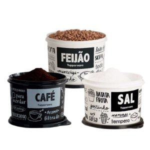 Tupperware Conjunto 3 potes PB FUN Sal, Café e Feijão