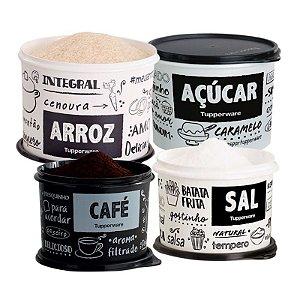 Tupperware Conjunto 4 potes PB FUN Sal, Açúcar, Café e Arroz