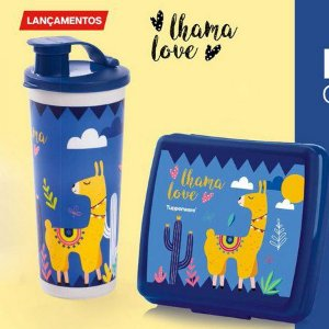 Tupperware Copo com Bico Love Lhama 470ml