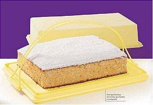 Tupperware Big Cake Retangular Amarelo
