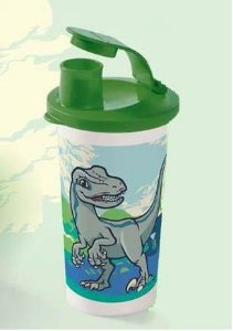 Tupperware Copo com bico Jurassic World 300 ml