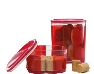 Tupperware Conjunto Pote Visual 700 ml + Pote Visual 1,5 Litros