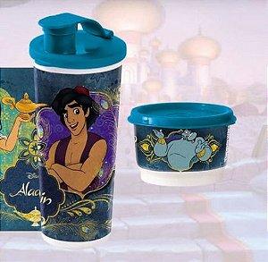 Tupperware Potinho Gênio 140 ml + Copo com Bico Aladdin e Jasmine 470 ml