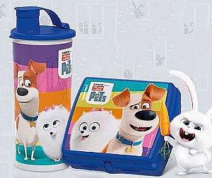 Tupperware Conjunto Copo com Bico 470 ml + Porta Sanduíche Pets