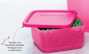 Tupperware Refri Line Quadrado 650 ml Rosa