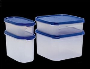 Tupperware Modular Oval 500 ml e 1,1 L + Modular Quadrado 1,2 L e 2,6 L