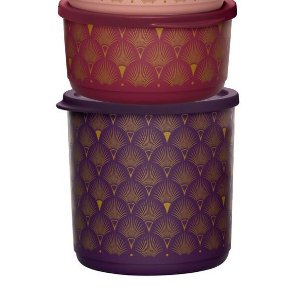 Tupperware Refri Line Redondo Gold 1,1 L + 530 ml