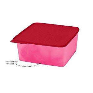 Tupperware Basic Line 5 Litros Rosa com tampa vermelha