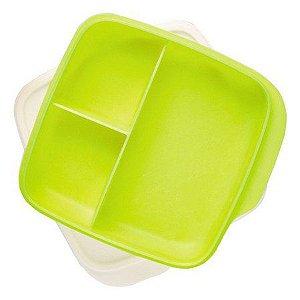Tupperware Basic Line com Divisórias 550 ml Amarelo Neon