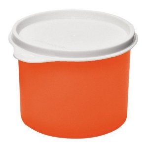 Tupperware Tupper Redondinha 500 ml Laranja Neon