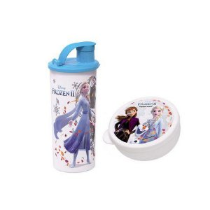 Tupperware Pote Redondo Frozen II 300 ml + Tupperware Copo com Bico Frozen II 470 ml