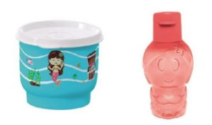 Tupperware Potinho Sereia 140 ml + Tupperware Eco Kids Sereia 350 ml