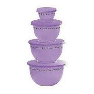Tupperware Kit Murano Orquídea 4 peças