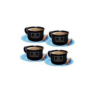 Tupperware Conjunto com 4 Xícaras de Café 150 ml Bistrô
