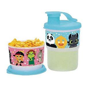 Tupperware Kit Copo Colors com Bico Koukou e Potinho Koukou