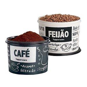 Tupperware Kit com 2 Potes PB Feijão e Café