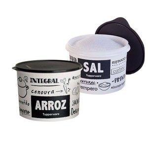 Tupperware Kit com 2 Potes PB Arroz e Sal
