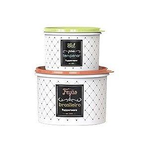 Tupperware Kit com 2 Potes Bistrô Feijão e Sal