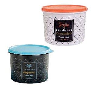 Tupperware Kit com 2 Potes Bistrô Feijão e Café