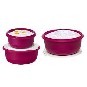 Tupperware Kit com 3 peças Tigelas Batedeira Geração II