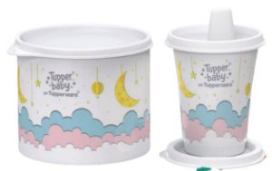 Tpperware Kit Tupper Baby Redondinha e Copo com bico