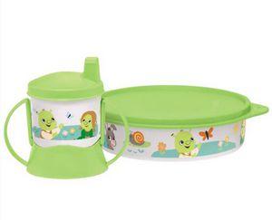 Tupperware Kit Copo com bico e Pratinho Shrek