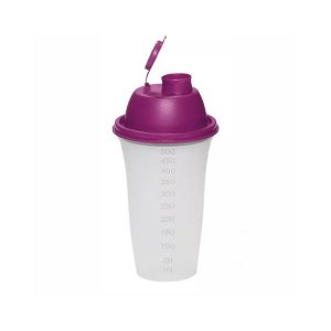 Tupperware Quick Shake Transparente Tampa Roxa 500 ml