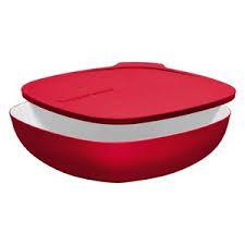 Tupperware Tigela Allegra Quadrada Vermelha 2,5 Litros