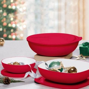 Tupperware Kit Tigelas Allegra Vermelha
