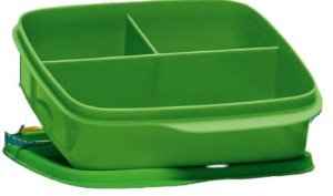 Tupperware Basic Line com Divisórias Verde 550ml