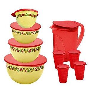Tupperware Kit Murano Verão 9 peças