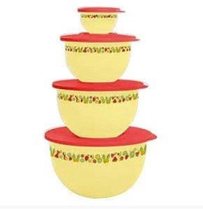 Tupperware Kit Tigelas Murano Verão 4 peças
