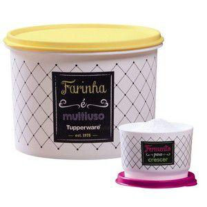 Tupperware Kit com 2 peças Bistrô Fermento e Farinha